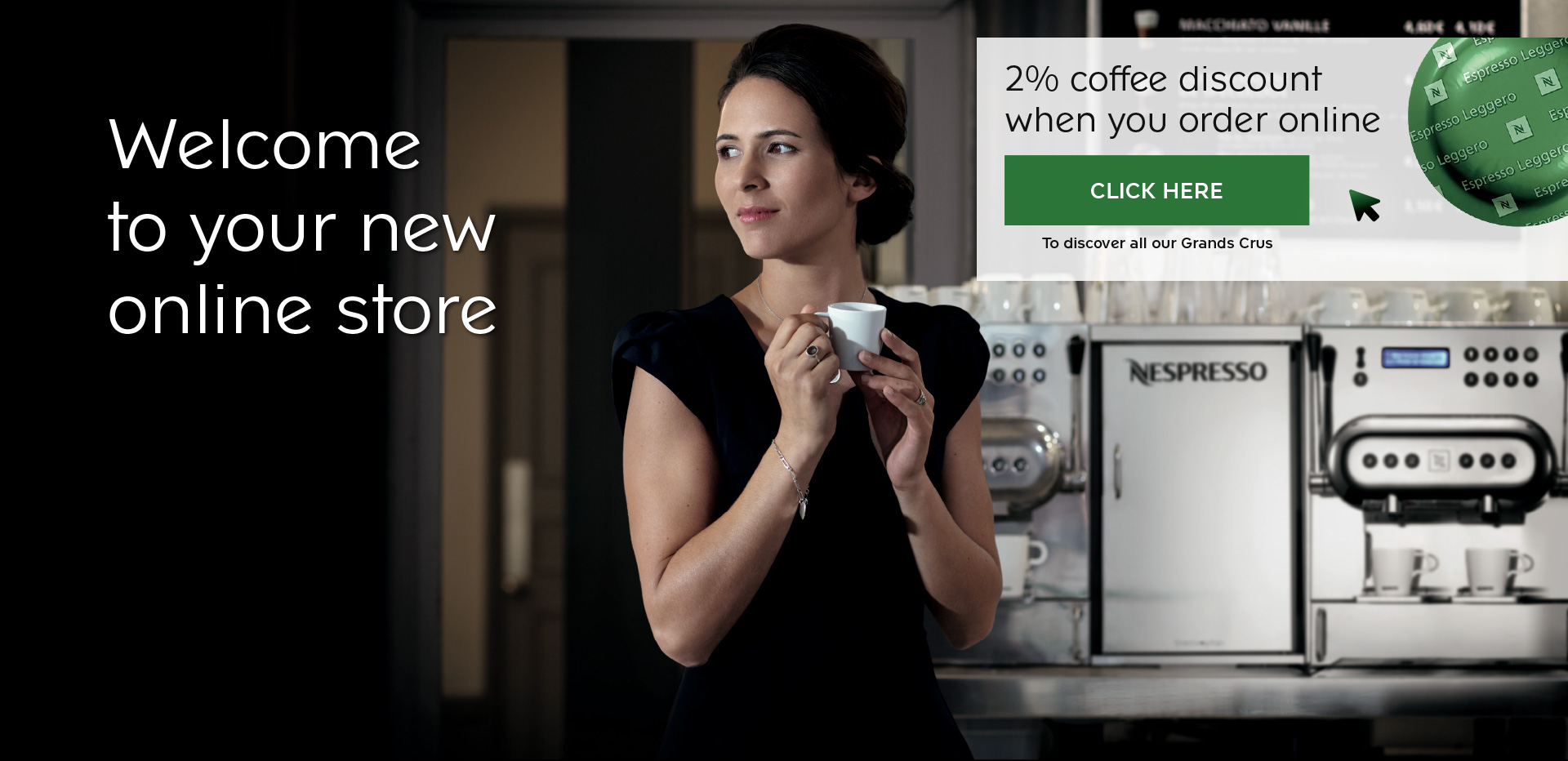 Nespresso Professional - Launch campaign 2% coffee rebate