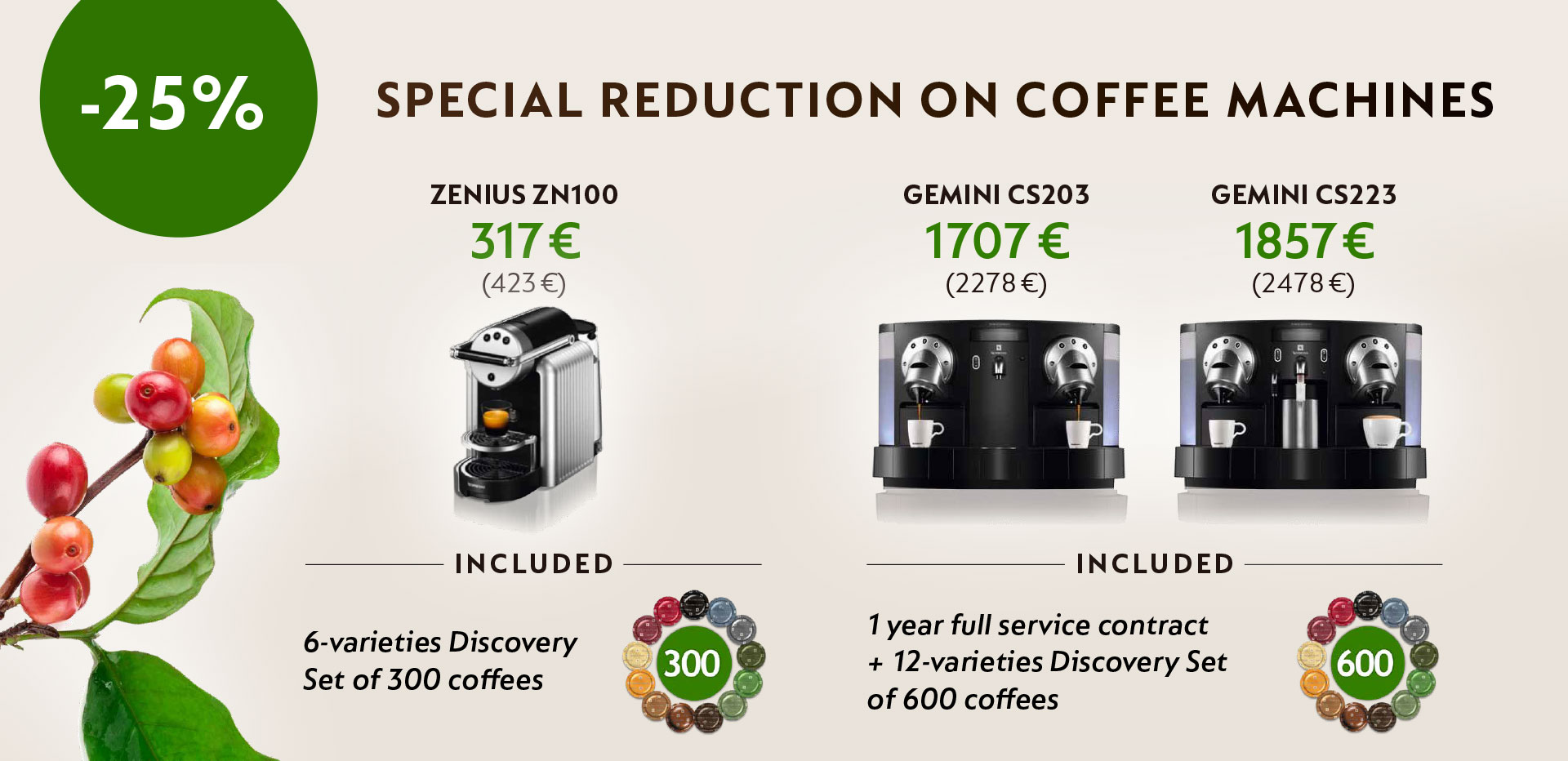Special offer on Nespresso Professional machine!
